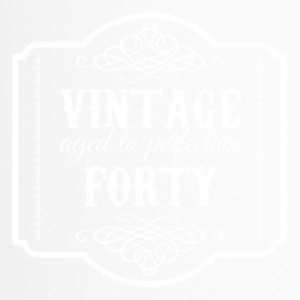 40th Birthday: Vintage Aged To Perfection Forty - Travel Mug
