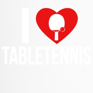 I LOVE TABLETENNIS WHITE - Thermobecher