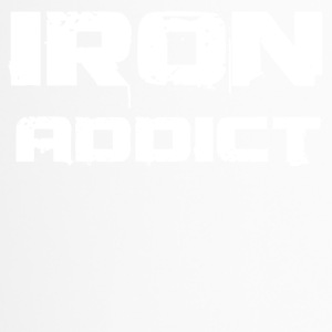 iron addict white - Thermobecher