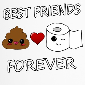 Poo and Paper Best Friends Kawaii - Thermobecher
