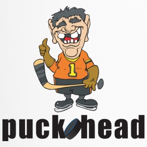 Hockey Puck Head - Travel Mug