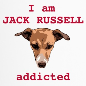 jack russel addicted red - Thermobecher