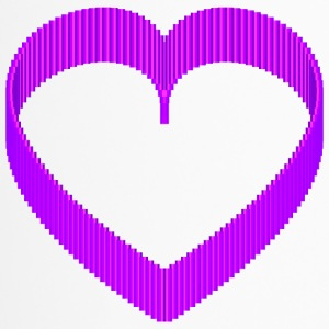 Pixel 3D Purple Heart rond design - Thermo mok