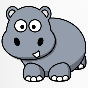 Nilpferd Happy Hippo Comic Stil für Kinder - Thermobecher