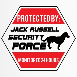 Dog / Jack Russell: Protected by Jack Russell - Travel Mug