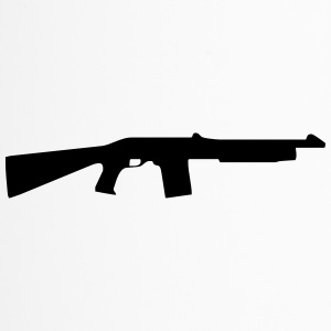 Vector Gun Silhouette - Thermobecher