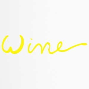 Wine art logo YELLOW - Travel Mug