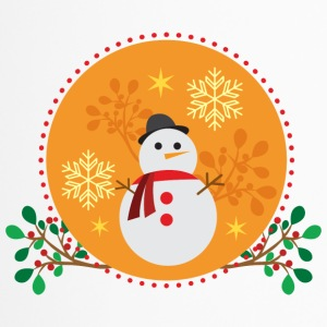 conception d'orange Snowman - Mug thermos