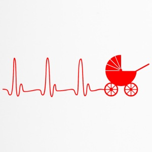 ECG HART LINE STROLLER rood - Thermo mok