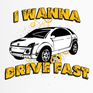 I wanna drive fast small ugly car - Travel Mug