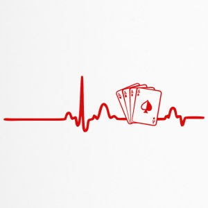 EKG HEART LINE POKER red - Termosmugg