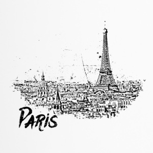 Paris - city view Sketch with Eiffel Tower - Travel Mug