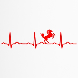 ECG HEARTBEAT HORSE rood - Thermo mok