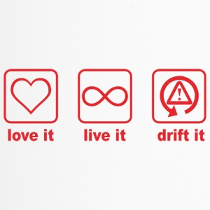love it live it drift it rot design - Thermobecher