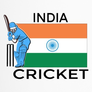 Indien Cricket-Spieler Flagge - Thermobecher