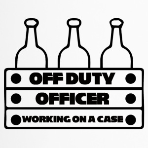 Police: Off Duty Officer - Working on a Case - Travel Mug
