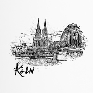 Cologne, city view as a sketch - Travel Mug