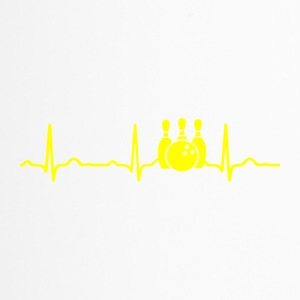 ECG HEARTBEAT BOWLING yellow - Travel Mug