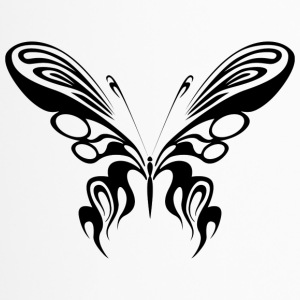 Tribal Tattoo Schmetterling / Butterfly / Falter - Thermobecher