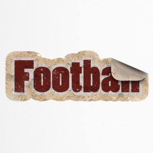 Football Sticker - Thermobecher
