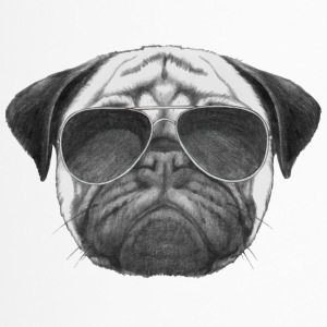 mops pug - Thermobecher