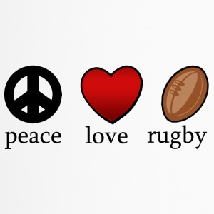 Peace Love Rugby - Thermobecher