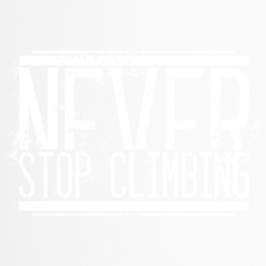 Never Stop Climbing Alt Weiss 001 AllroundDesigns - Thermobecher