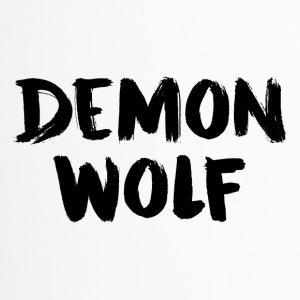 Demon Wolf Text Ontwerp Zwart - Thermo mok