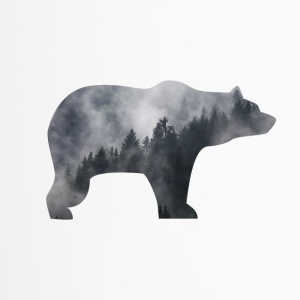 BEAR IN SMOKY FOREST - Thermobecher