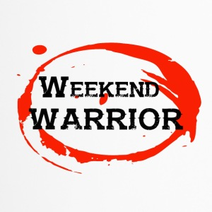 Shirt Weekend Warrior Wochenende Party - Thermobecher