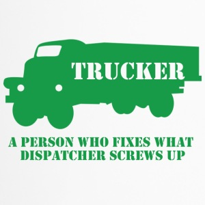 Trucker / LKW-Fahrer: A person who fixes what - Thermobecher