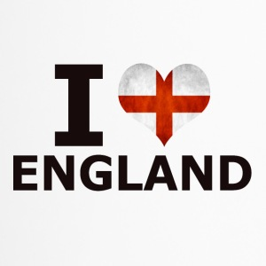 I LOVE ENGLAND FLAG - Thermobecher