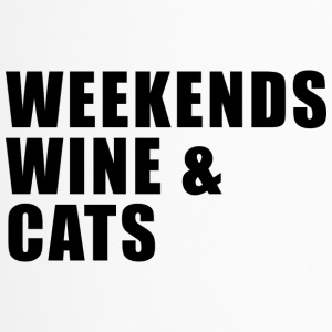 WEEKEND. WINE AND CATS! - Travel Mug