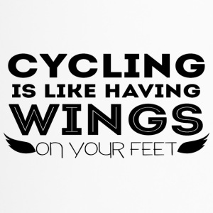 Cycling: Cycling is like having wings on your - Travel Mug