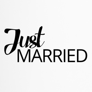 Hochzeit / Heirat: Just Married - Thermobecher