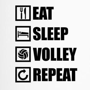 EAT SLEEP VOLLEY REPEAT - Thermobecher