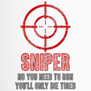 Militair / Soldier: Sniper - Nee, je moet lopen, - Thermo mok