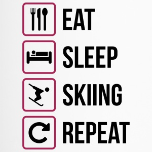 Eat Sleep Skiing Repeat - Travel Mug