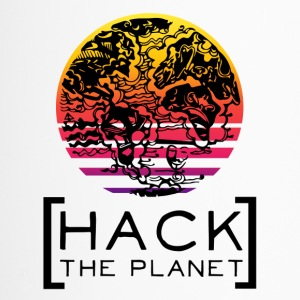 "motto T-shirt ""van de planeet Hack"" - Thermo mok"