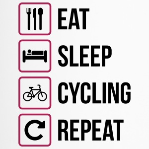 Eat Sleep Cycling herhalen - Thermo mok