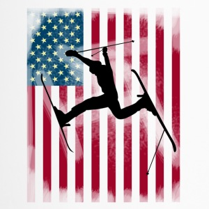 ski-stunt Freestyle Sprung Bogner Team USA Flagge - Thermobecher