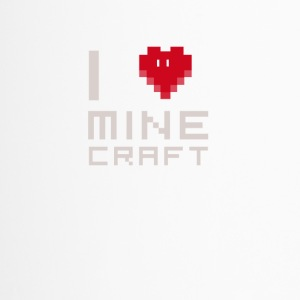 I love MC love computer games Nerd square face - Travel Mug