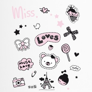 badges_rosa Patch Girl Miss Little Princess geleden - Thermo mok