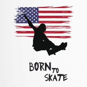 born to skate skateboard street america flag fun 1 - Thermobecher