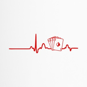 EKG Heart Line Poker, Cards - Thermo mok