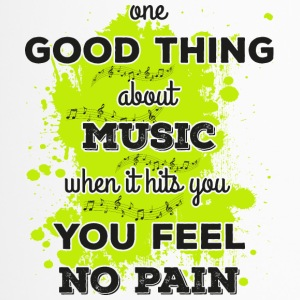 Music! When it hits you you feel no pain (dark) - Travel Mug