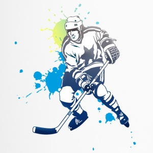 hockey splatter hockey player puck attack cool - Travel Mug
