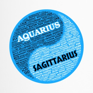 Aquarius and Sagittarius Zodiac Sign Man Love Mug - Travel Mug