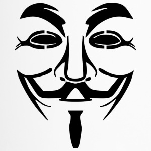 Vendetta Maske - Guy Fawkes (Anonymous) - Thermobecher