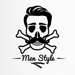Skull Barber Friseur Men Style Totenkopf Bart - Thermobecher